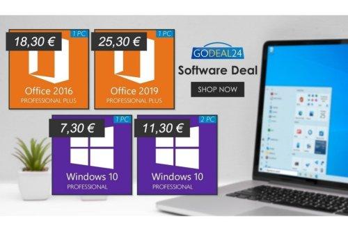 Windows 10 dès 7,30 euros : de nombreuses promotions vous attendent sur GoDeal24