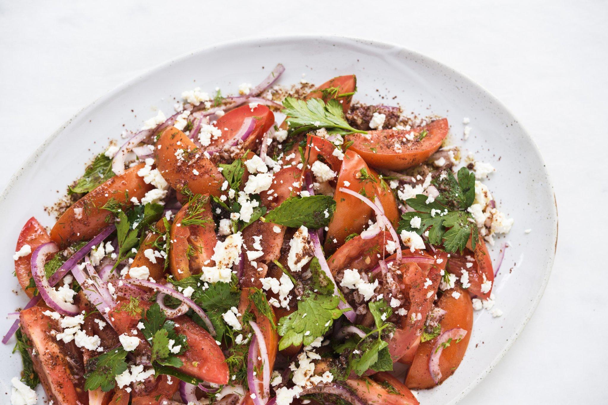 Tomato-Herb Salad with Sumac