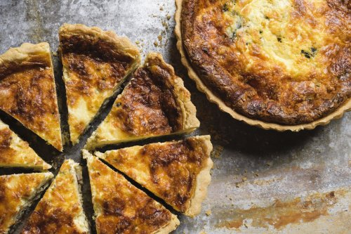 Deep-Dish Quiche with Mushrooms, Bacon and Gruyère