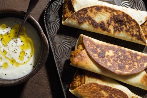 Turkish-Style Stuffed Flatbreads with Butternut Squash and Cheese