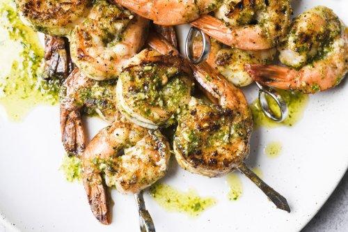 Grilled Garlic-Herb Shrimp
