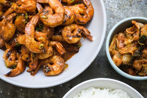 Grilled Gochujang Shrimp with Scallions