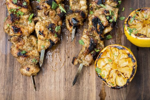 Moroccan Ginger-Lemon Chicken Skewers