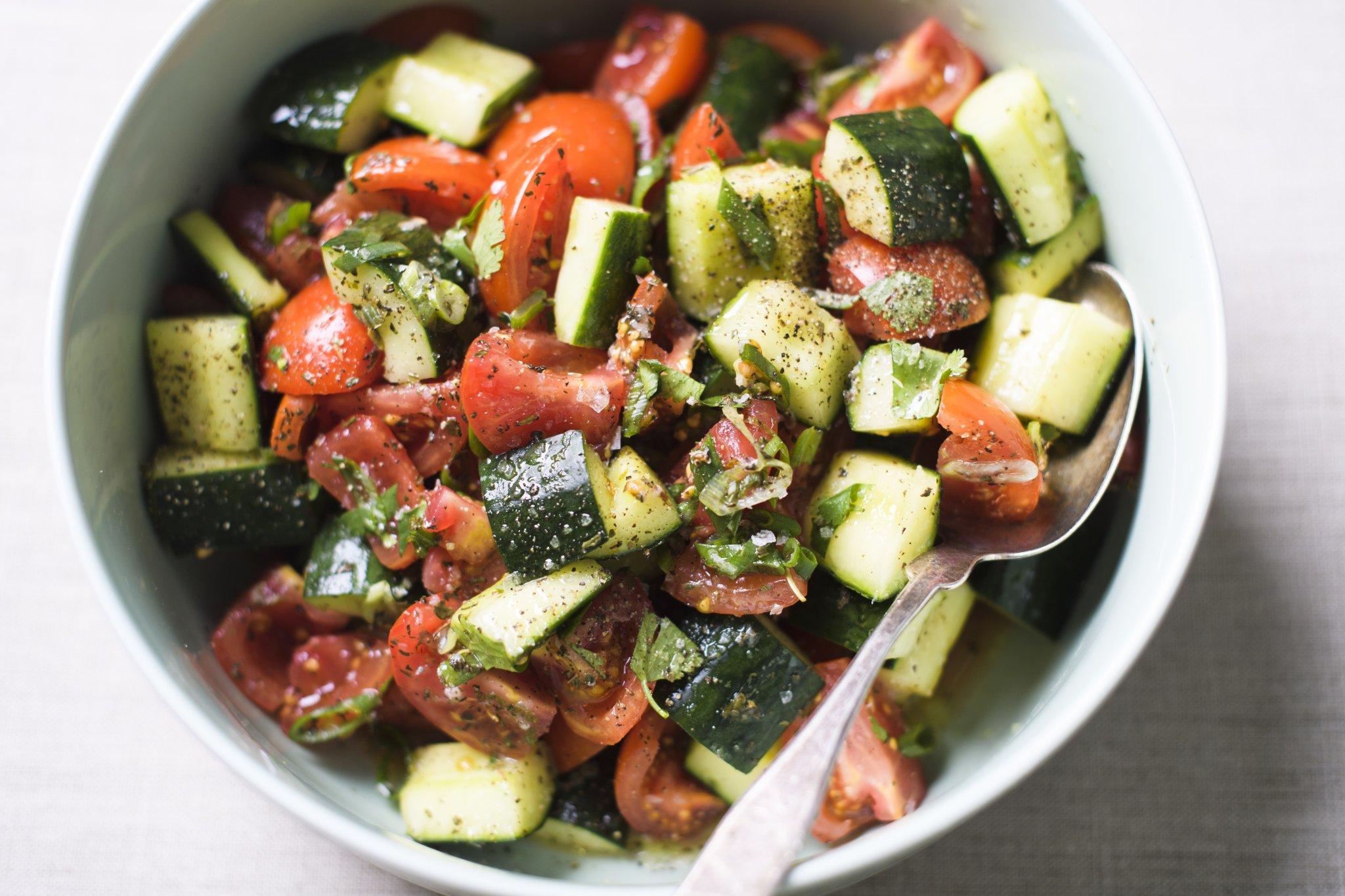 Iran's Fresh, Vibrant Cucumber-Tomato Salad