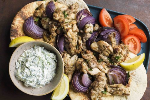 Chicken Souvlaki with Tzatziki
