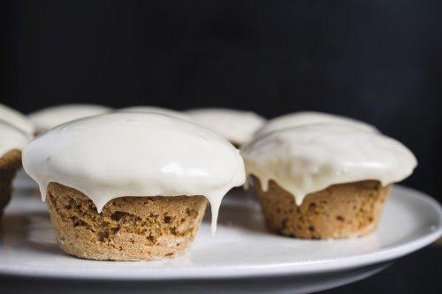 Glazed Maple–Whole Wheat Muffins