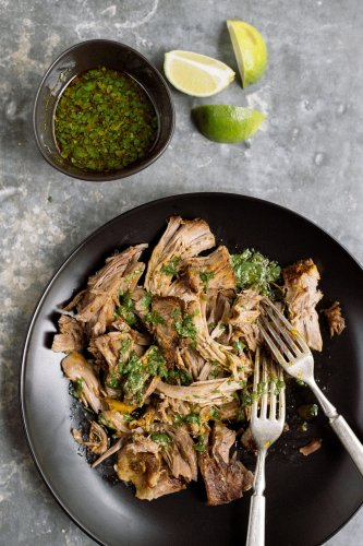 Cuban-Style Pork Shoulder with Mojo Sauce