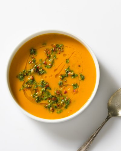 Carrot-Lime Soup with Cilantro