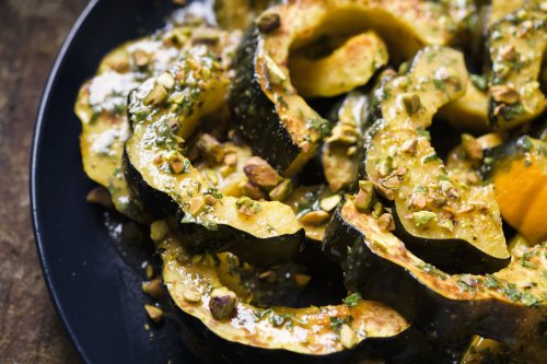 Roasted Acorn Squash with Browned Butter–Orange Vinaigrette