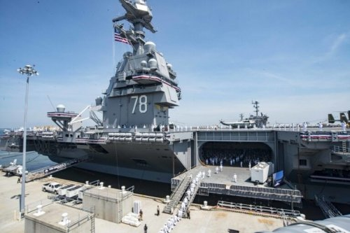 The Navy's Forth Gerald R. Ford-class Aircraft Carrier is Under Construction