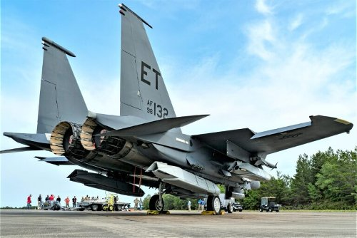 This Is What An F-15E Fighter Bomb Truck Looks Like