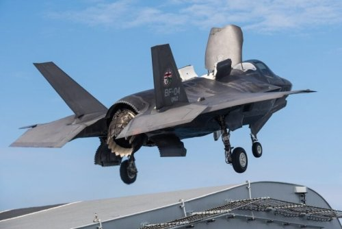 A Navy Aircraft Carrier Armed with F-35s is in the South China Sea
