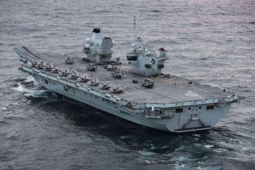 The Royal Navy's New Aircraft Carrier Is Massive and Armed with F-35s