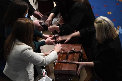 The women who saved the boxes of electoral votes during a riot in the Capitol