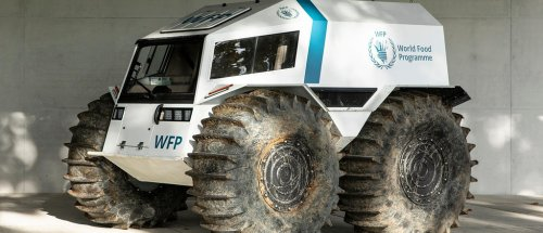 Dieses Roboter-Fahrzeug soll Nahrungsmittel in Krisengebiete liefern