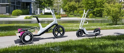 BMW hat ein elektrisches Lastendreirad und einen faltbaren E-Scooter konzipiert