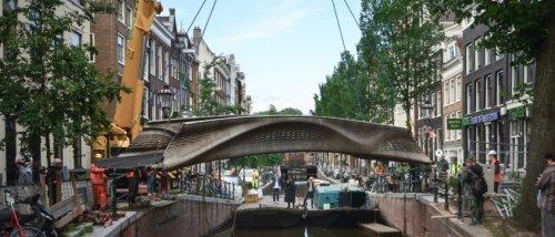 Amsterdam eröffnet die weltweit erste Stahlbrücke aus dem 3D-Drucker
