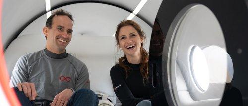 Das sind die ersten Menschen, die in einem Hyperloop gefahren sind