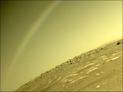 NASA says its photo of a 'rainbow' on Mars is actually a lens flare - sorry