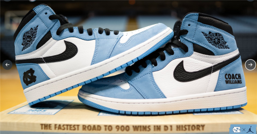 Look: Jordan Brand Gifts Roy Williams With Customized Retro 1's