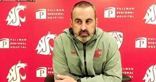 WSU's Nick Rolovich explains second half QB carousel in USC loss