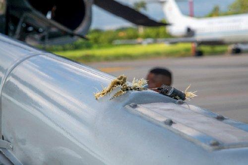 Hubschrauber von Kolumbiens Präsident beschossen