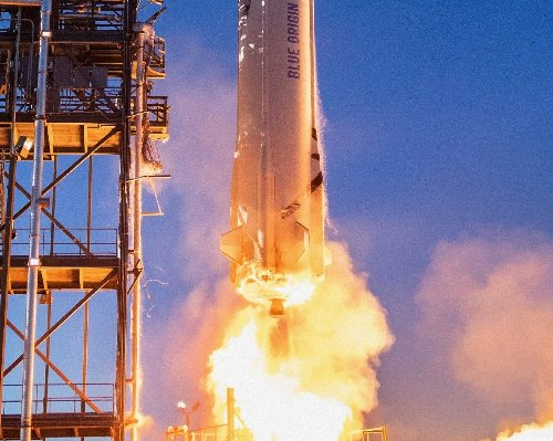Trip to space with Jeff Bezos sells for $28 mn