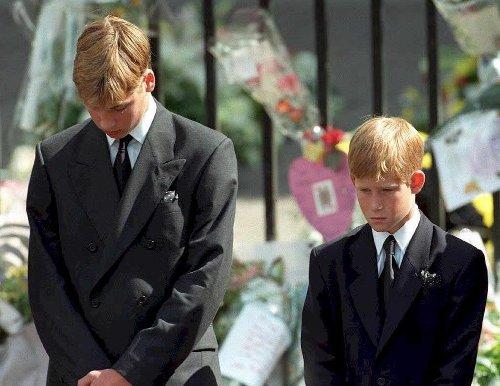 William and Harry reunite for Diana statue tribute