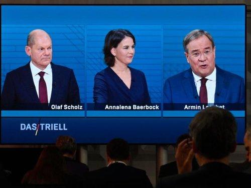 """Turbulentes Triell: Scholz im Kreuzfeuer, Laschet in der Klima-Mangel - Baerbock preist """"Verbote"""""""
