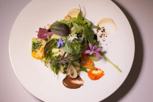 Dinner at Maison Bras in France