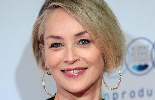 "Sharon Stone Radiates In Single Breasted Pink Blazer, ""Beauty"" Says Sarah Paulson and Holland Taylor"
