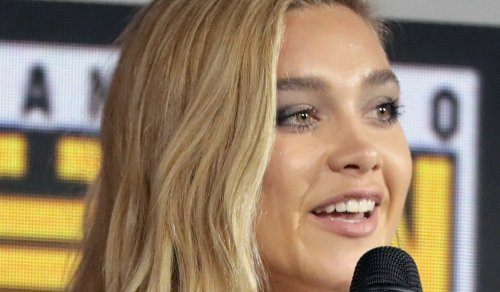 """Florence Pugh Stuns In Tiny Cut-Out Mini Dress, """"Honest Hungry Moment"""""""
