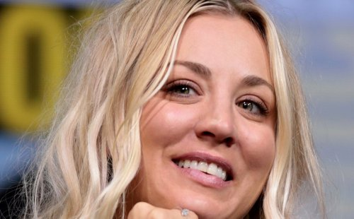"""Kaley Cuoco Stuns In Tiny Mini Dress with Flared Sleeves, """"Freaking Out The Man!"""""""