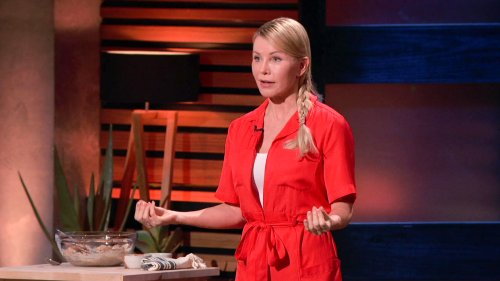 Creation Nation: Snack Maker Rocks Red Romper with White Sneakers on Shark Tank
