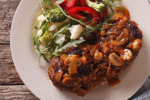 Ground Beef Recipes: Easy Hamburger Steaks Recipe With Creamy Tomato Sauce (Low Carb & Keto Friendly)