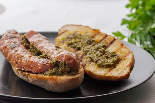 Argentine Choripán Sandwich Recipe With Chimichurri Sauce Brings Global Cuisine to Sandwich Night
