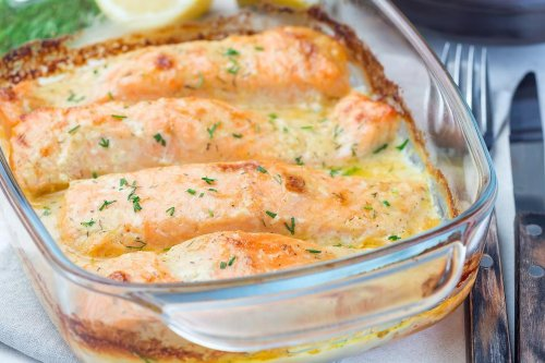 This Baked Salmon Recipe in a Creamy Lemon Butter Sauce Will Make You a Weekday Gourmet