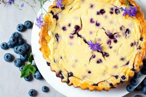 Creamy Blueberry Custard Pie Recipe: This Easy Lemon Blueberry Pie Recipe Is Almost Too Pretty to Eat