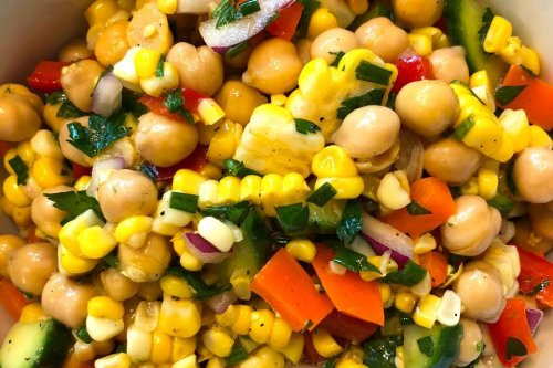 Healthy Chickpea & Grilled Corn Salad Recipe: This Colorful Corn & Chickpea Salad Brightens & Lightens Up Dinner