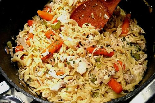 Easy Chicken & Egg Noodles Recipe (Almost) Like Grandma Used to Make