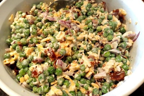 Classic Green Pea Salad Recipe: This Easy Pea Salad Recipe Ups the Crunch Factor