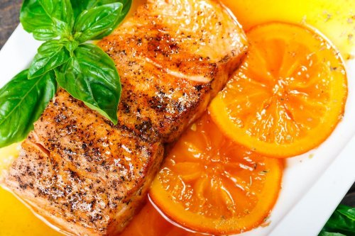 Easy Salmon Recipe: This Citrus-Glazed Salmon Recipe With Grilled Oranges Is Light, Bright & Healthy