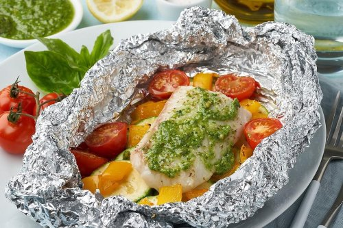 Healthy Foil Packet Recipes: Use an Oven, Grill or Campfire to Cook This Easy Fish With Vegetables Recipe