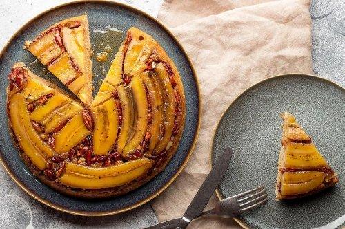 Banana Upside Down Cake Recipe: An Ooey Gooey Caramelized Banana Foster Upside Down Cake Recipe