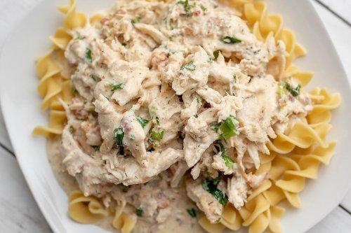 5-Ingredient Crack Chicken Recipe: Heavenly Slow-Cooker Creamy Chicken & Egg Noodles Recipe