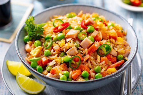 This Ham Fried Rice Recipe With Peas & Carrots Is a One-Pan Meal Ready in 20 Minutes