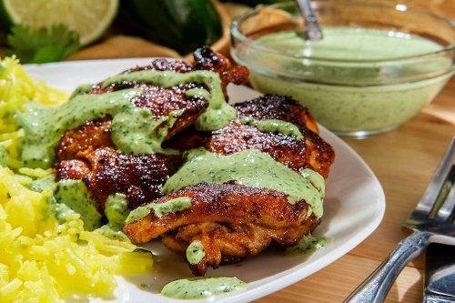 This Easy Peruvian Chicken Recipe With Aji Verde Sauce Will Not Disappoint