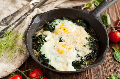 Bet This Creamed Spinach With Eggs Recipe Will Make You Crave Breakfast for Dinner