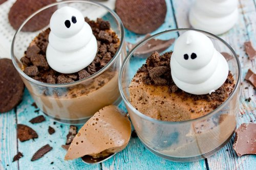 This Halloween Chocolate Mousse Dessert Cups Recipe Is Hauntingly Easy to Make
