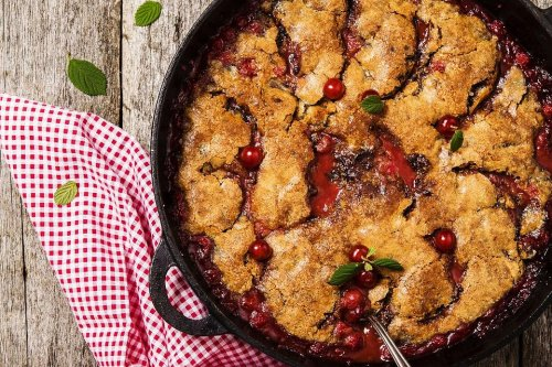 4-Ingredient Skillet Cherry Cobbler Recipe: Dump, Mix, Drop, Bake (Done!)